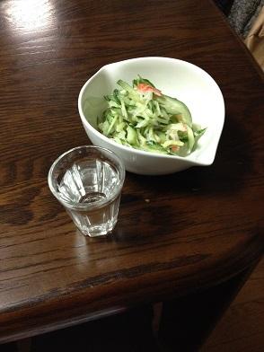 きゅうりとカニカマのサラダ