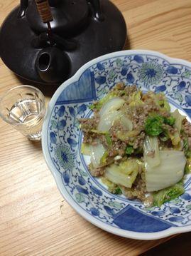 白菜と豚ひき肉の炒め煮