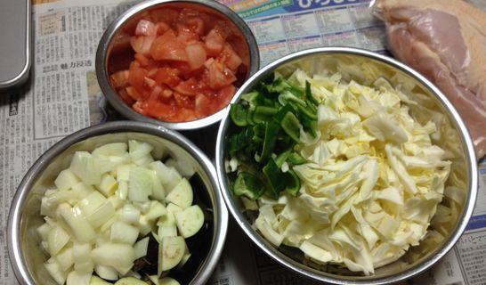 チキンのトマト煮(野菜)