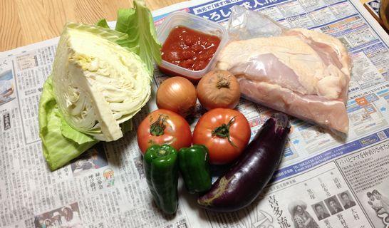 チキンのトマト煮(材料)