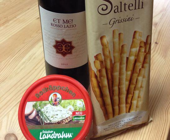 et-meとチーズとグリッシーニ
