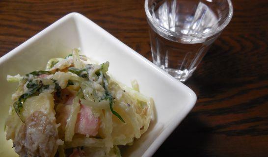 新じゃがと水菜のサラダ
