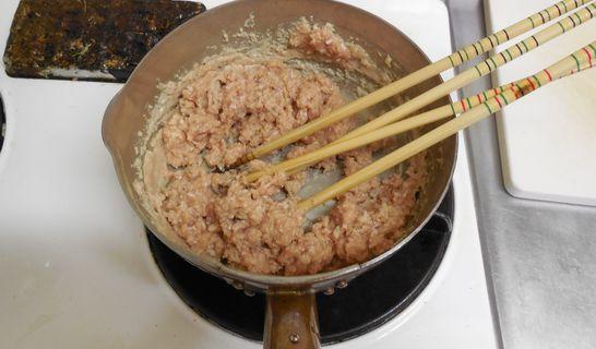 鶏そぼろ(鍋)