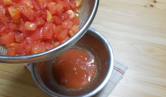 トマトの水切り