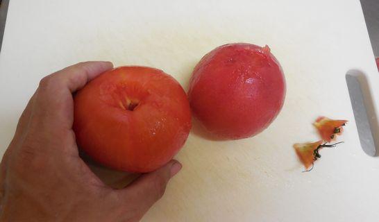 トマト(皮むき)