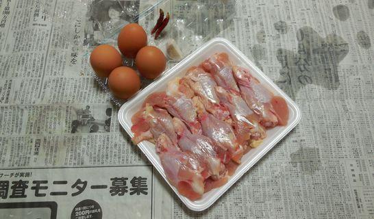 鶏のさっぱり煮(材料)