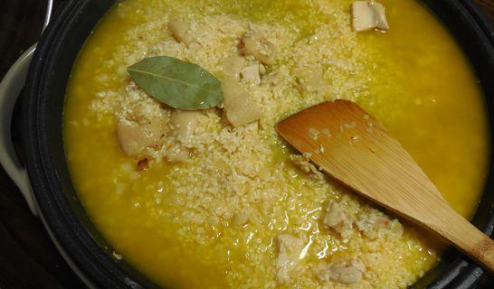 サフラン湯とローリエ