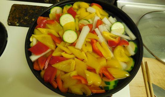野菜をゆでる