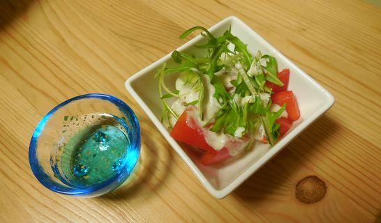 トマト水菜のサラダ