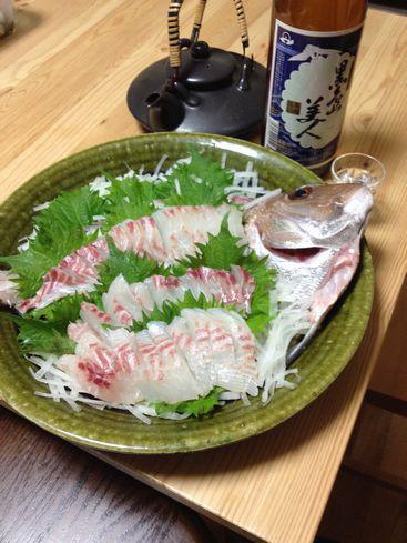 鯛(刺身)