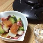 タコとトマトの梅サラダ