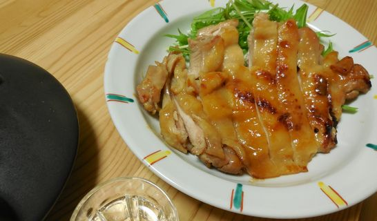 鶏もも肉の白味噌漬け焼き