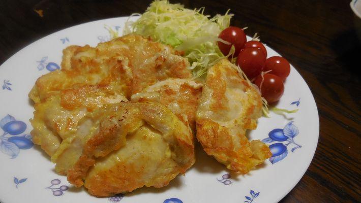 鶏むね肉のチーズピカタ
